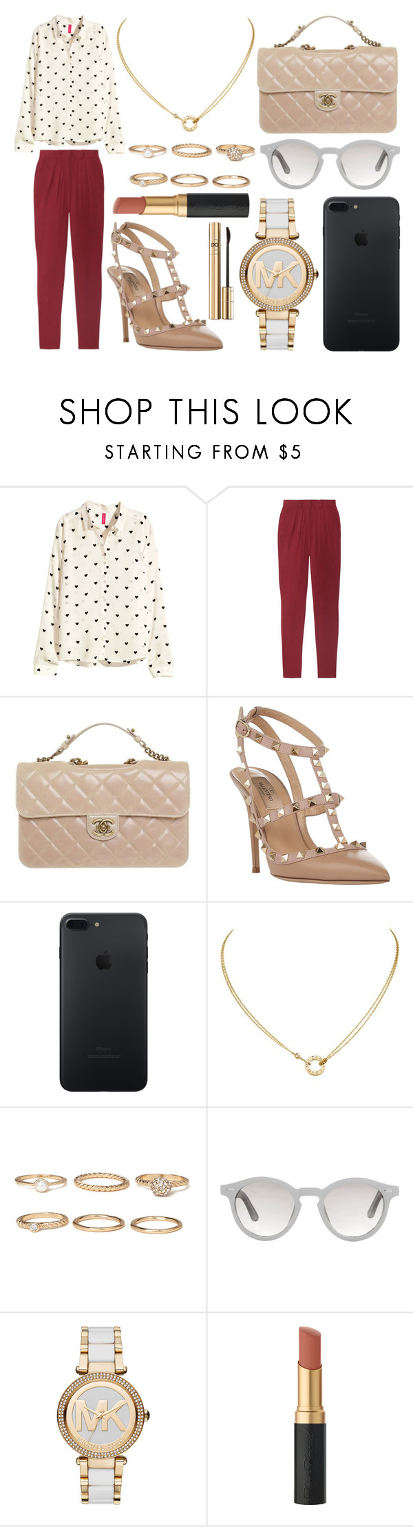 """""""405."""" by plaraa on Polyvore featuring moda, H&M, Isabel Marant, Chanel, Valentino, Cartier, Forever 21, Linda Farrow, MICHAEL Michael Kors y Dolce&Gabbana"""