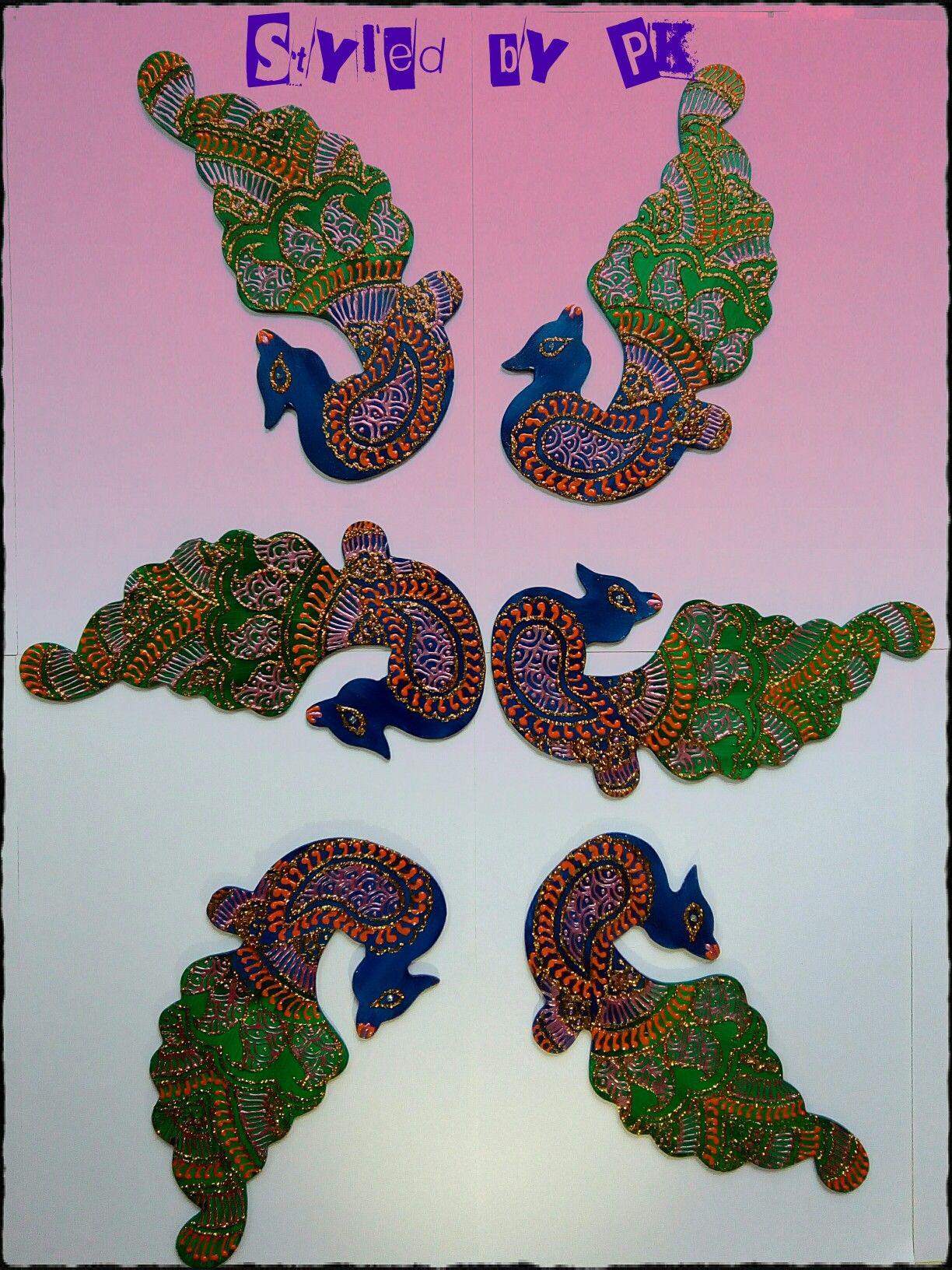 Handmade rangoli Design Peacock #PSK