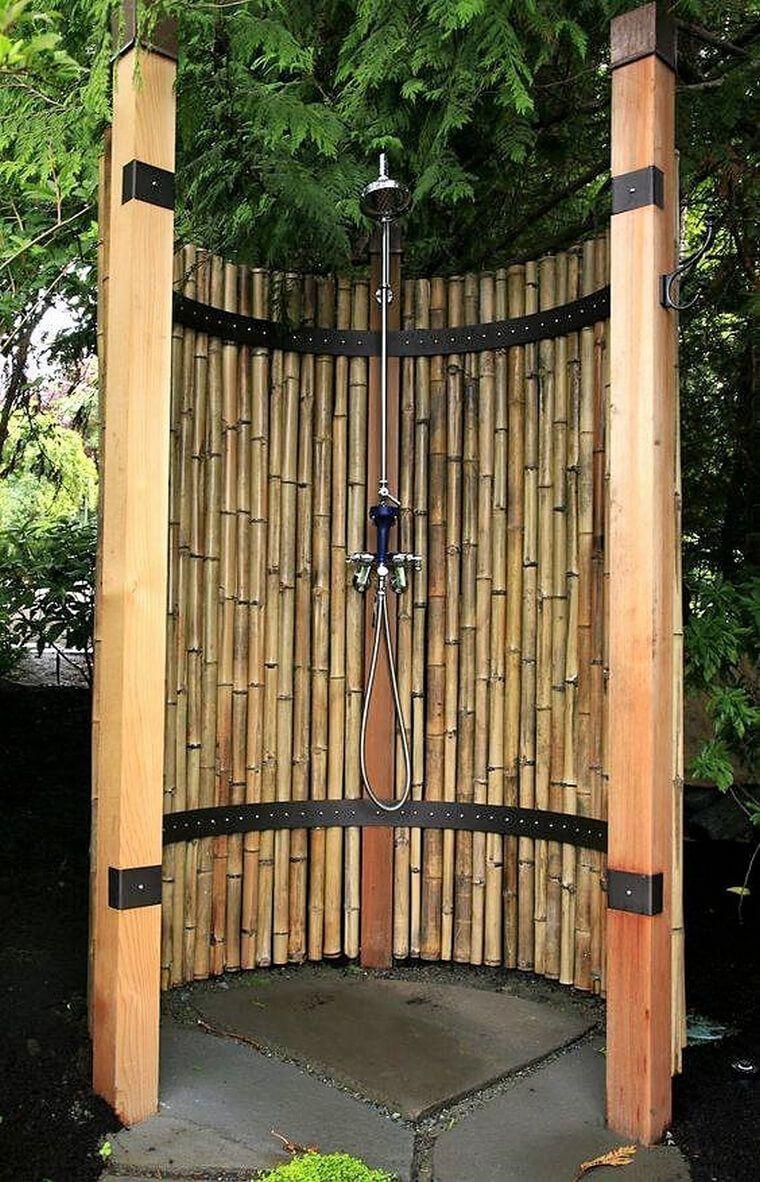 Creative Ideas With Bamboo Garden Shower Outdoor Bathrooms