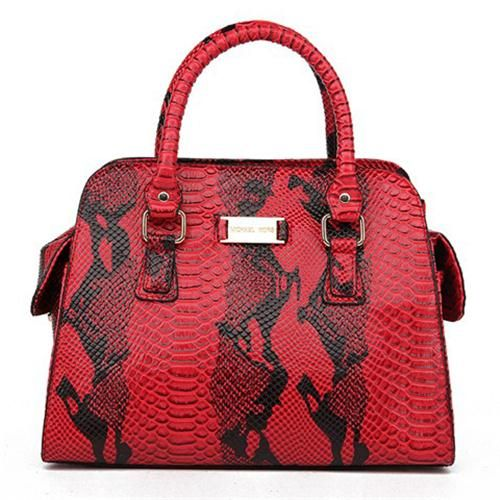 Perfect Michael Kors Gia Embossed Large Red Satchels, Perfect You