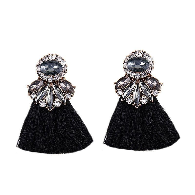 77324f95254f2e Vedawas Long Tassel Earrings for Women Wedding Bohemian Geometric Gifts  Colorful Fringed Dangle Drop Earrings Jewelry
