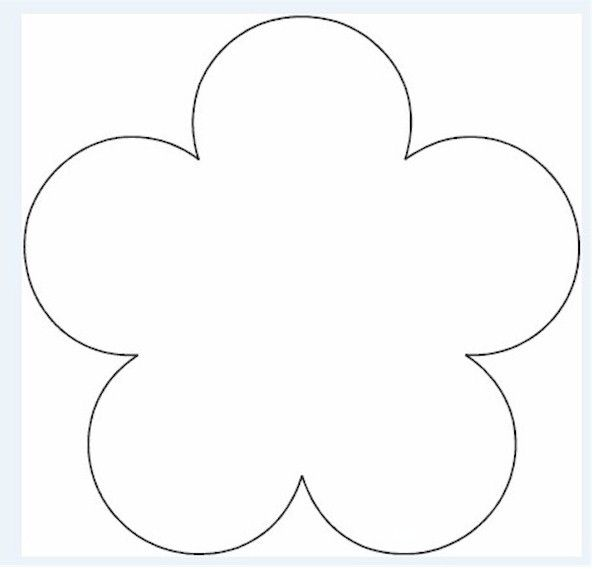 Flower Template. 5 Petal Flower Template Free Download Flower