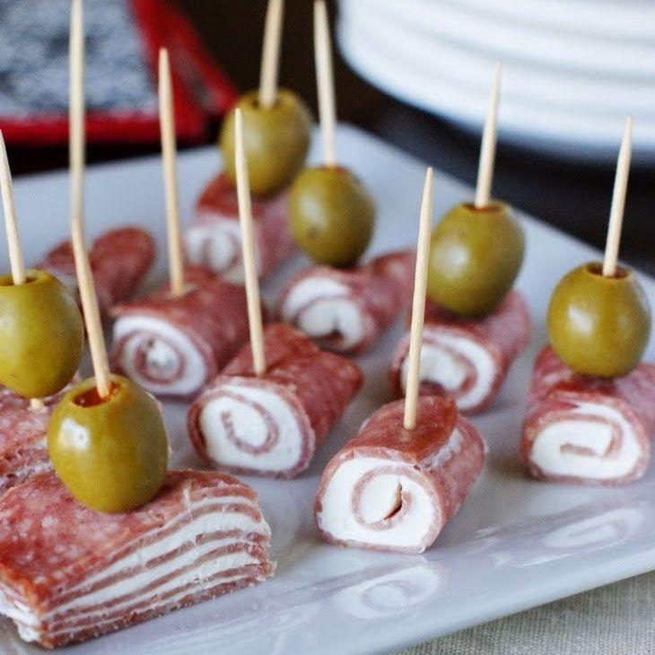 Quick Salami & Cream Cheese Bites Recipe Appetizers, Lunch