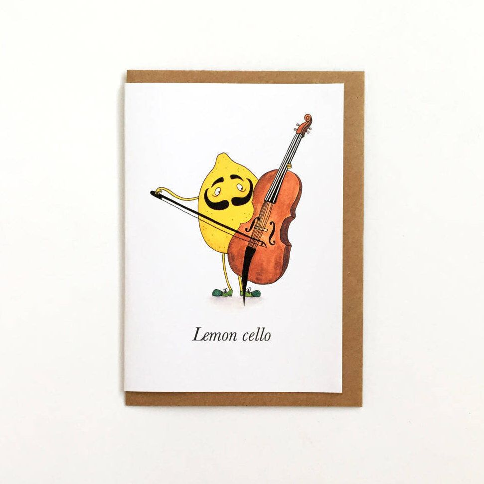 Lemon Cello Pun Card Humour Fruit Any Occasion Greeting Card