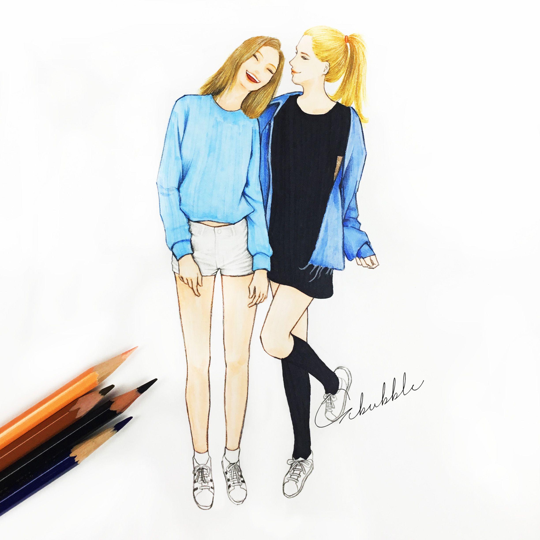 We are soul sisters | Best friend drawings, Bff drawings, Drawings of friends