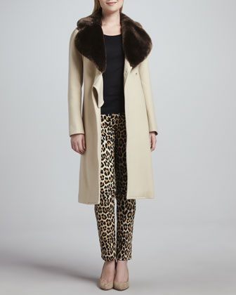 briella+faux-fur-collar+coat+&+broome+street+leopard-print+jeans+by+kate+spade+new+york+at+Neiman+Marcus.