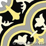 "Villa Lagoon Tile's ""Roseton"" cement tile, available in over 60 colors."
