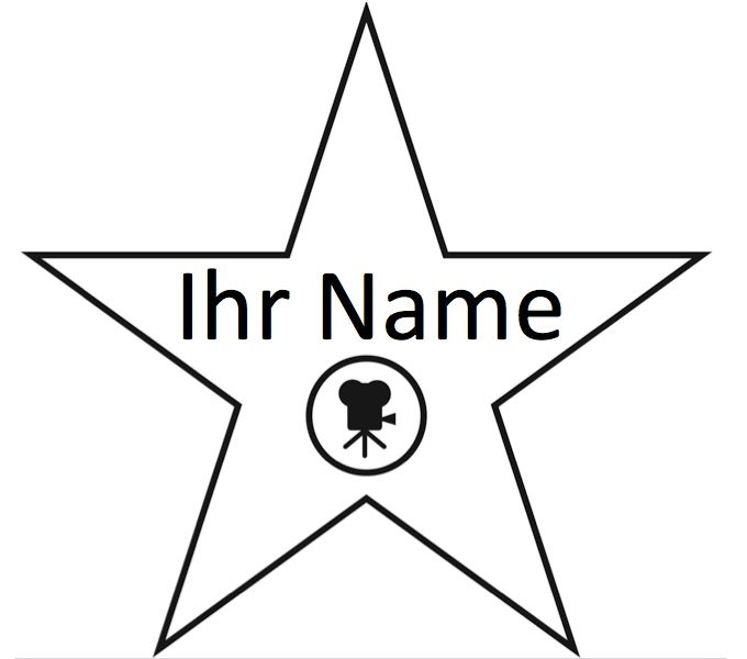 Hollywood Star Template  Hollywood Walk Of Fame Stern  Produkte