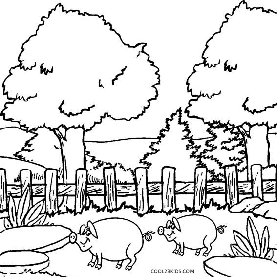 Nature Coloring Pages Childrens Art Studio Xmas Drawing