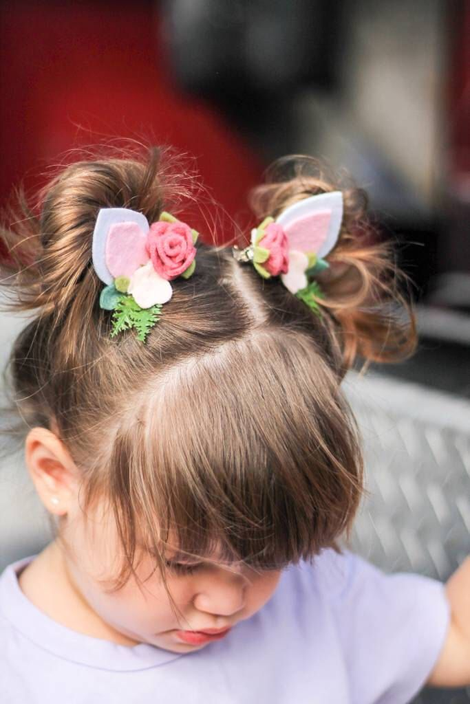 Baby Girls Princess Flower Bud Hair Side Clips Crown Hairpins Headwear Hairbands