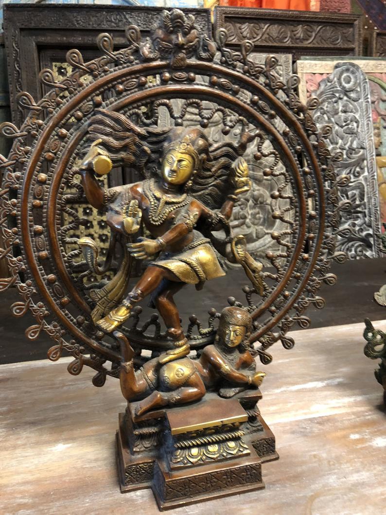 Hindu Temple Meenakshi Amman Devi Statue Vintage Avatar  Parvati Sculpture Rare