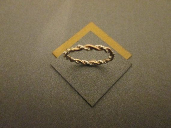 Braided Ring 14K Gold Filled & Twisted by SilverCanyonJewelry, $14.00