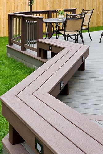 Deck Bench Part Railing Part Bench Small Backyard