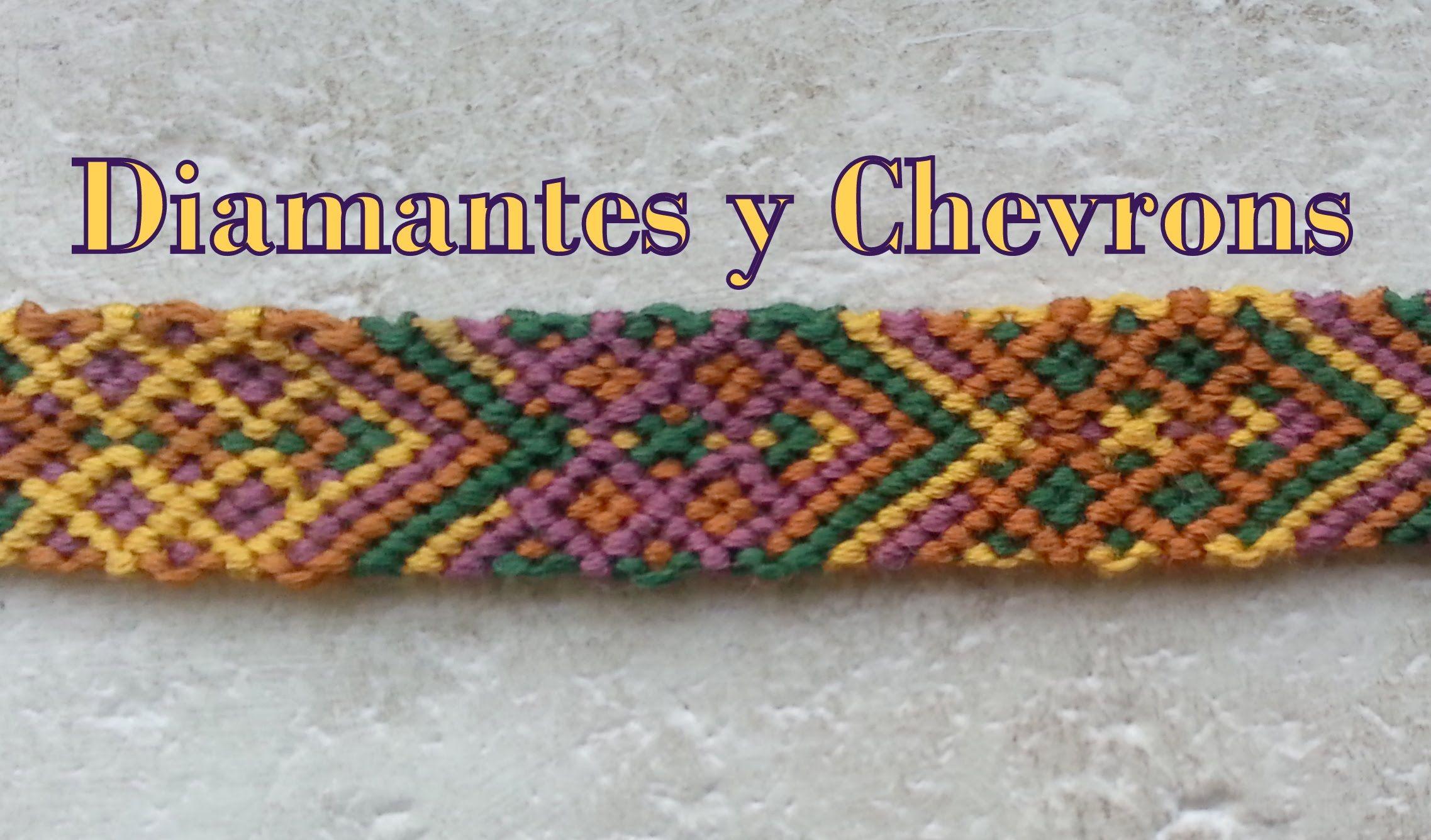 Pulseras de Hilo: Diamantes y Chevrons | Macrame Creations ...