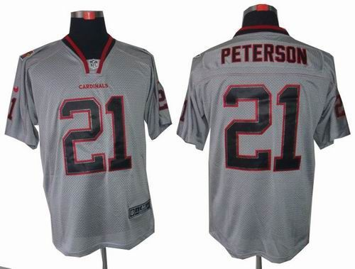 New Nike Arizona Cardinals 21 Patrick Peterson Lights Out grey elite  free shipping