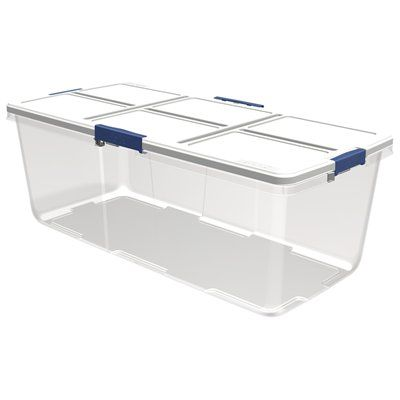 Hefty 100-qt Clear Tote with Latching Lid