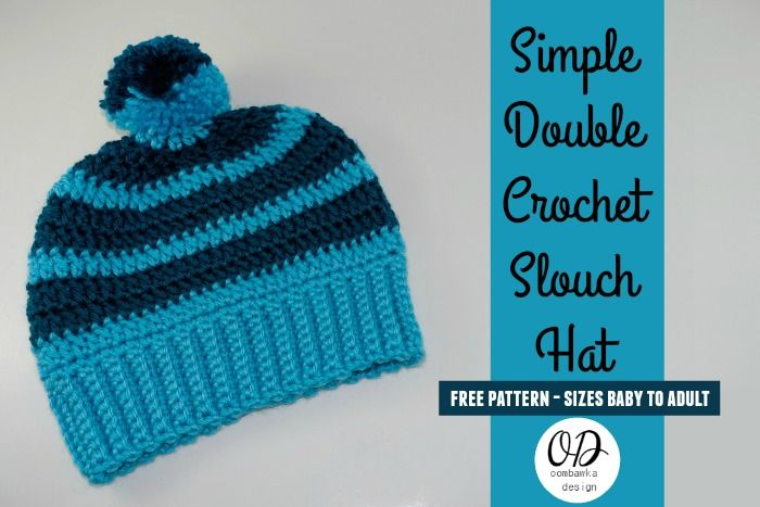 Simple Double Crochet Slouch Hat