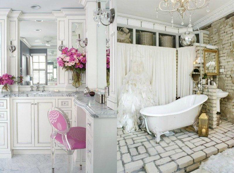 Déco salle de bain romantique- 33 idées pour tous les goûts!