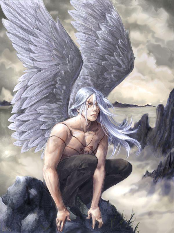 Angel At The Tops By Lorraine Schleter Angel Art Fantasy Art Men Male Angels