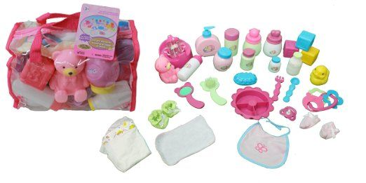 Mommy Amp Me Baby Doll Care Set With 30 Accessories In Bag