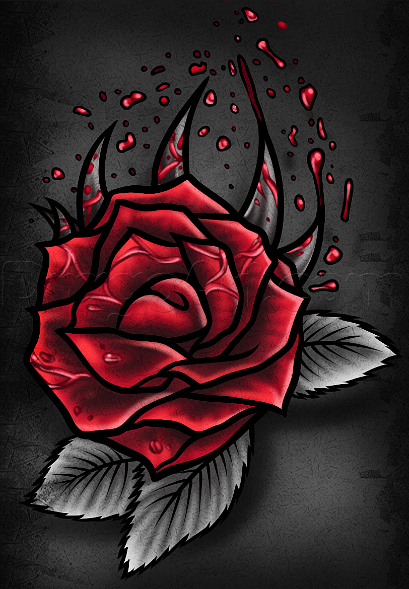 gothic roses How to Draw a Gothic Rose, Step by Step