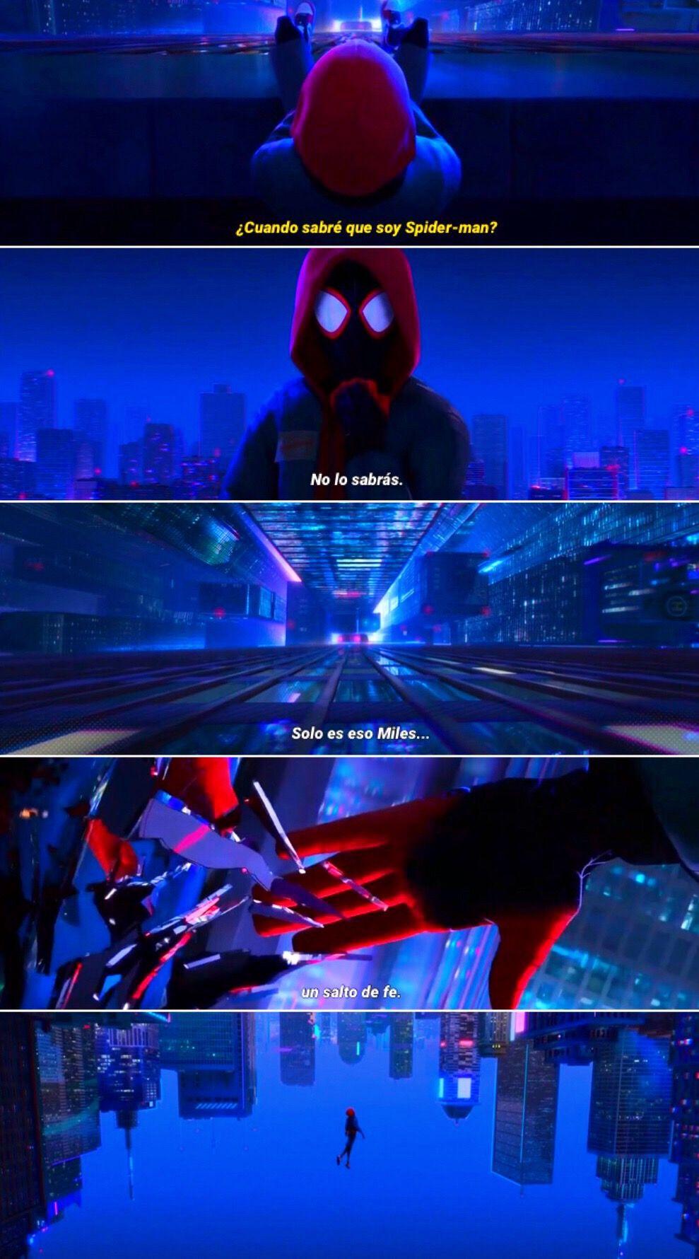 Spider Man Un Nuevo Universo 2018 Solo Es Eso Un