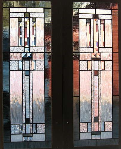 Frank Lloyd Wright Styles sunflower glass studio | residential windows - frank lloyd wright