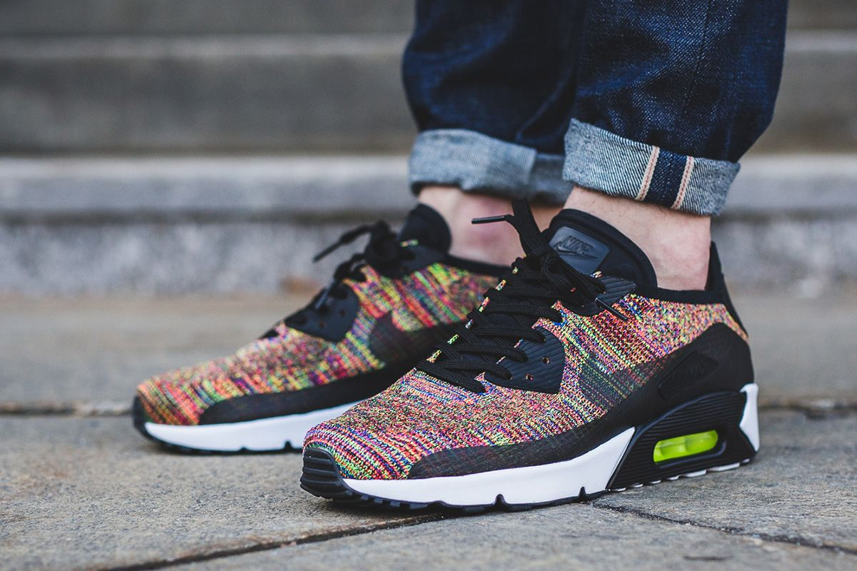 best sneakers dac83 c4802 On-Foot  Nike Air Max 90 Ultra 2.0 Flyknit  Multicolor  - EU Kicks  Sneaker  Magazine