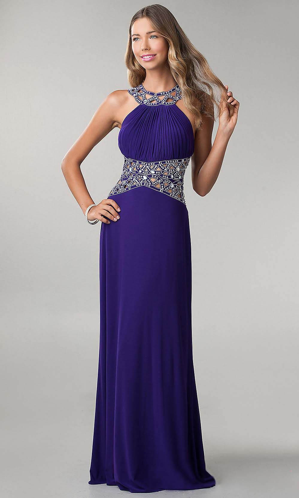 loop prom dresses, royal blue prom dress, elegant prom dresses ...