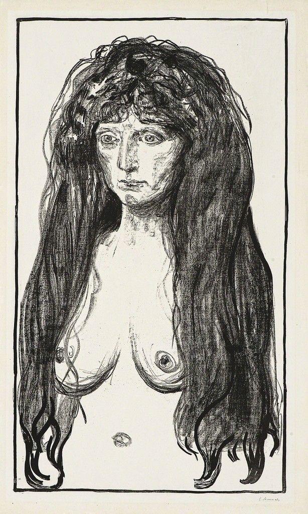 Edvard Munch, Kvinne med rødt hår og grønne øyne.  Synden (Woman with Red Hair and Green Eyes. The Sin), 1902, John Szoke