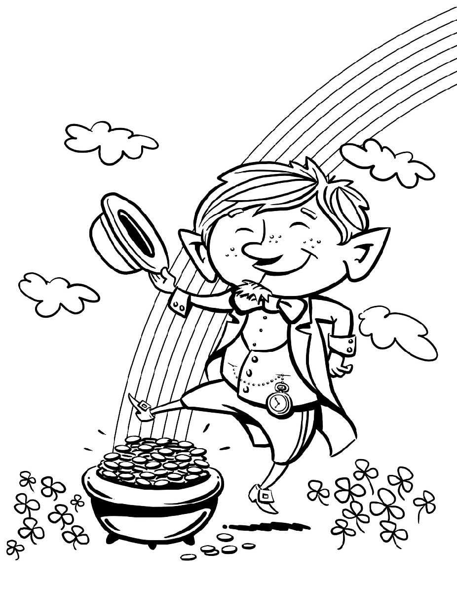 Leprechaun Coloring Pages Free Printable Coloring Pages Free Printables Leprechaun [ 1200 x 926 Pixel ]
