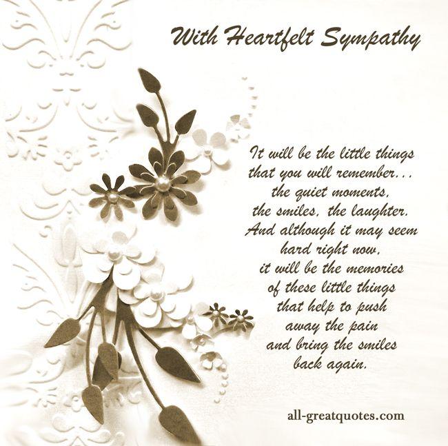 sympathy messages | With Heartfelt Sympathy Free Sympathy ...
