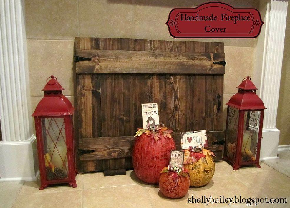 Handmade Fireplace Cover Fireplace cover, Handmade home