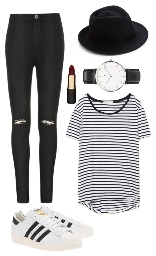 """Untitled #1"" by daaaaan ❤ liked on Polyvore featuring Ally Fashion, Zara, adidas Originals, Eugenia Kim, Daniel Wellington, Mimco, women's clothing, women's fashion, women and female"