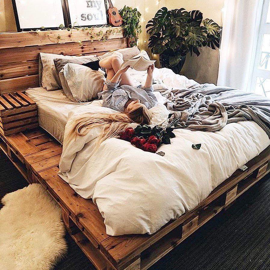 Pallet Bedz   Bed frame design, Wooden pallet beds, Pallet ... on Pallet Bed Room  id=91658