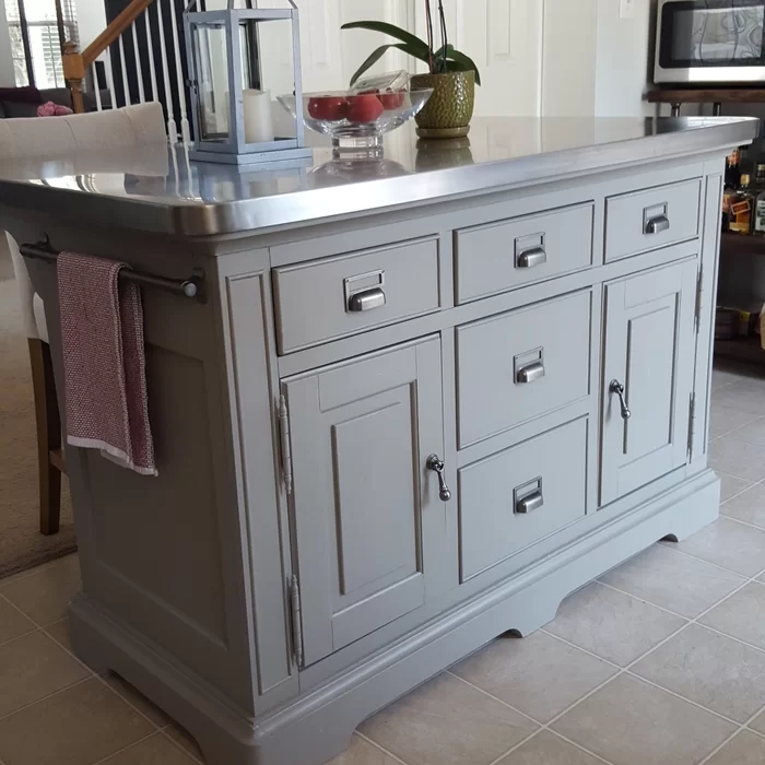 Bailes Kitchen Island Stainless Steel Counter Top Replacing