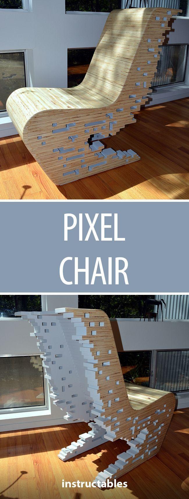 Pixel Chair Fun Furniture Holzarbeiten Outdoor M 246 Bel