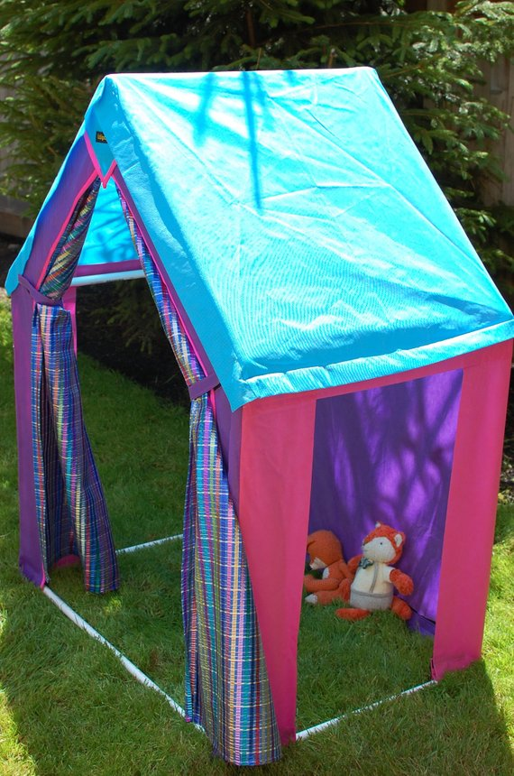 Play stage Tent, open sides for entering stage left or