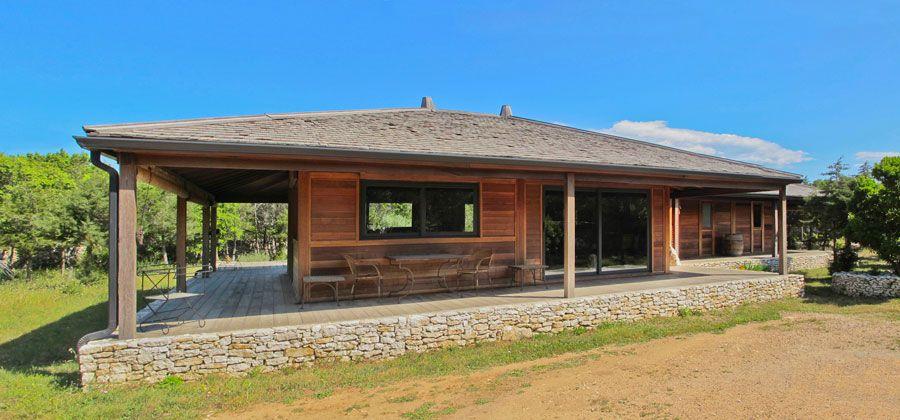 réalisation villa en bois de 100m² déco Pinterest Villas