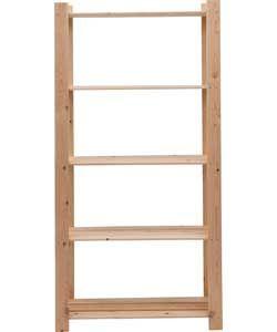 light duty unfinished 5 shelf storage unit solid pine. Black Bedroom Furniture Sets. Home Design Ideas
