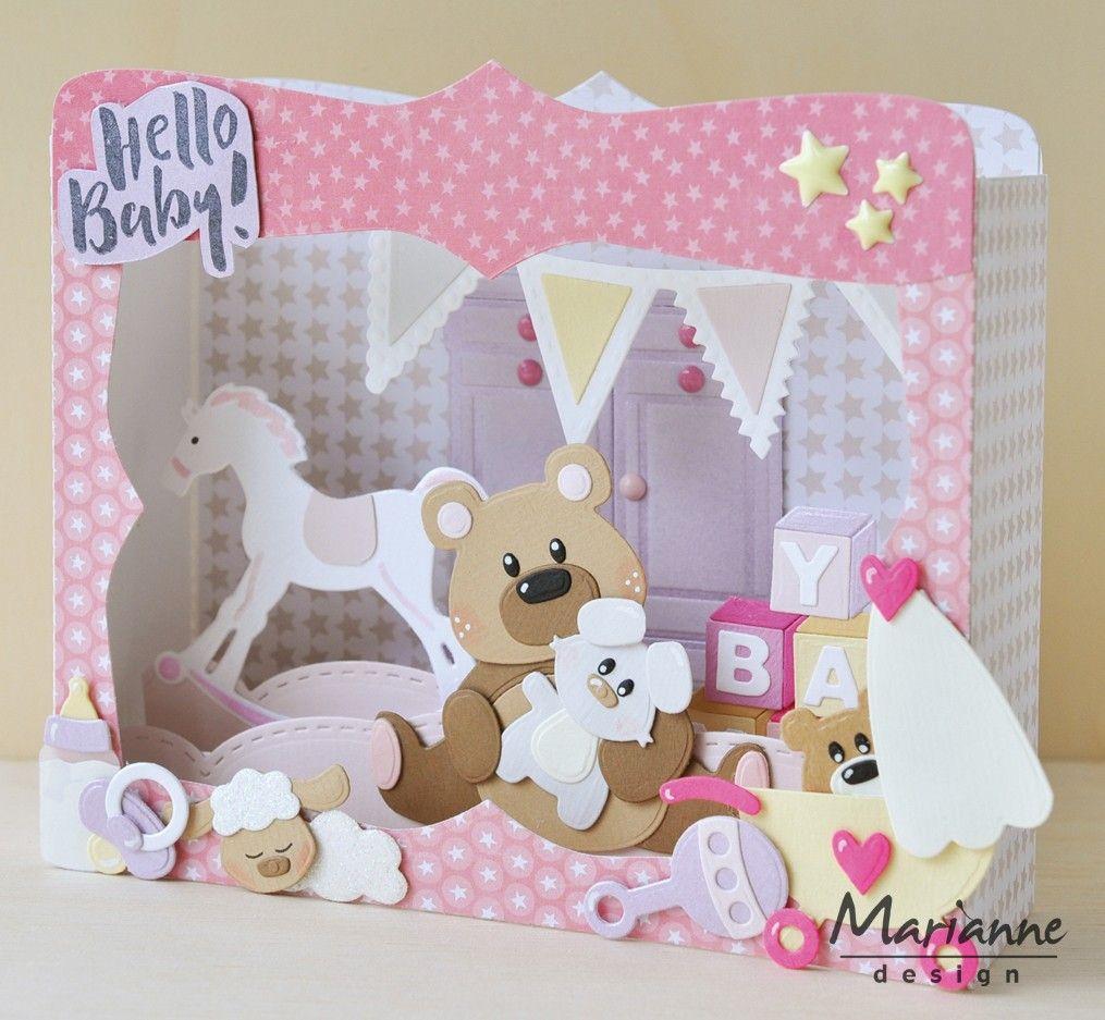 Marianne Design Eline/'s Baby Essentials Collectables Cutting Die Set COL1421