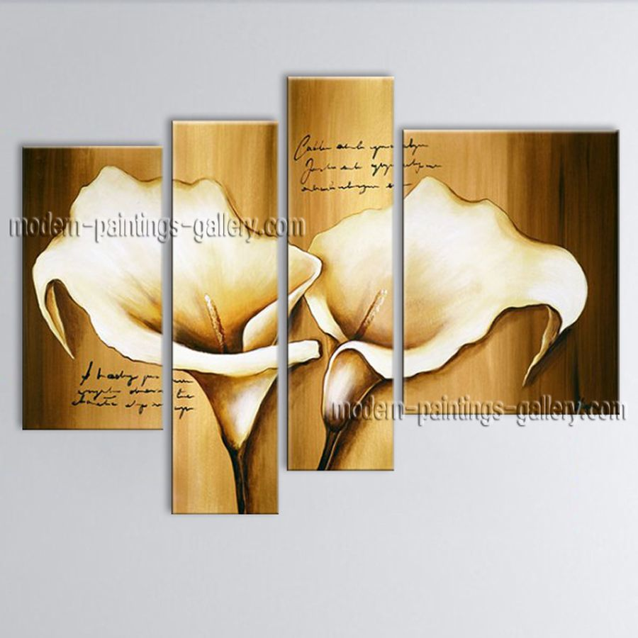Huge Hand Painted Abstract Floral Painting On Canvas Contemporary ...