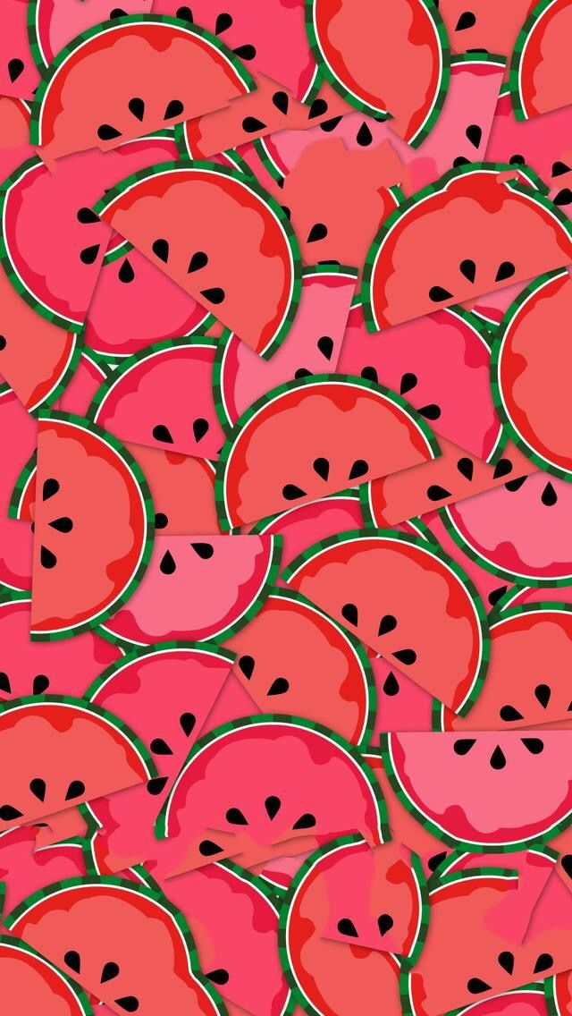 Free Watermelon Iphone Wallpaper Background Red Summer Design Pattern