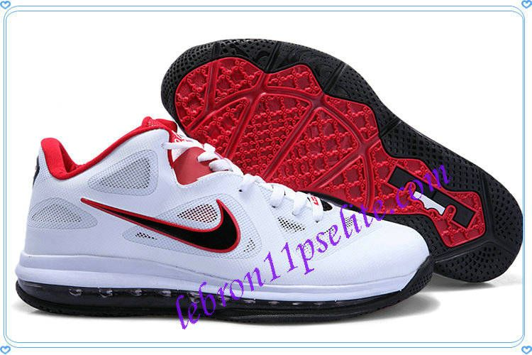 b74a9736a8ab Lebron 9 Low Lebron James IX White Obsidian Red University Red 469765 002-A  new sample of Lebron 9 Low