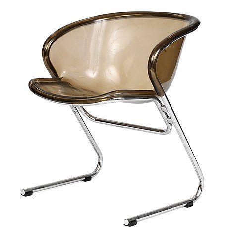 Gastone Rinaldi; Chromed Tubular Metal and Plexiglass Armchair for Rima, c1970.