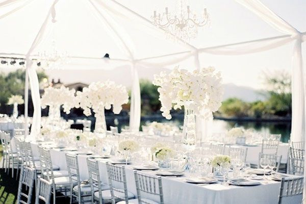 8 White Wedding Theme Ideas & 8 White Wedding Theme Ideas | Wedding tables Wedding colour ...