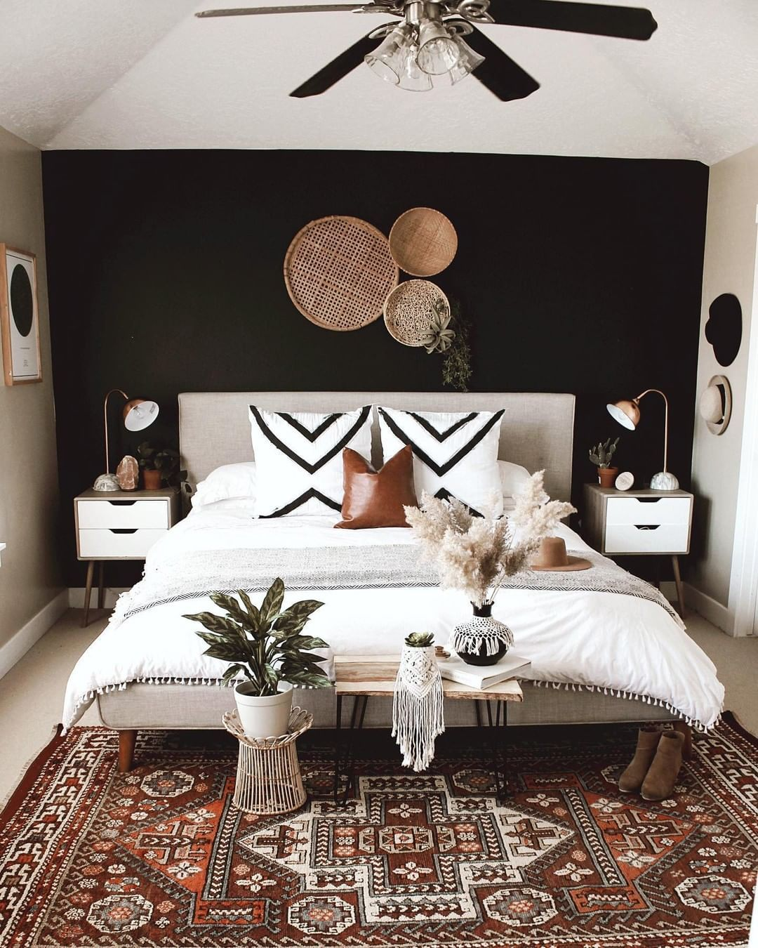 "Hunker on Instagram: ""What's your favorite part of this space? We can't choose 🤩 (📷 submitted by @bitsofbohome) Link in bio for more home decor inspo."""