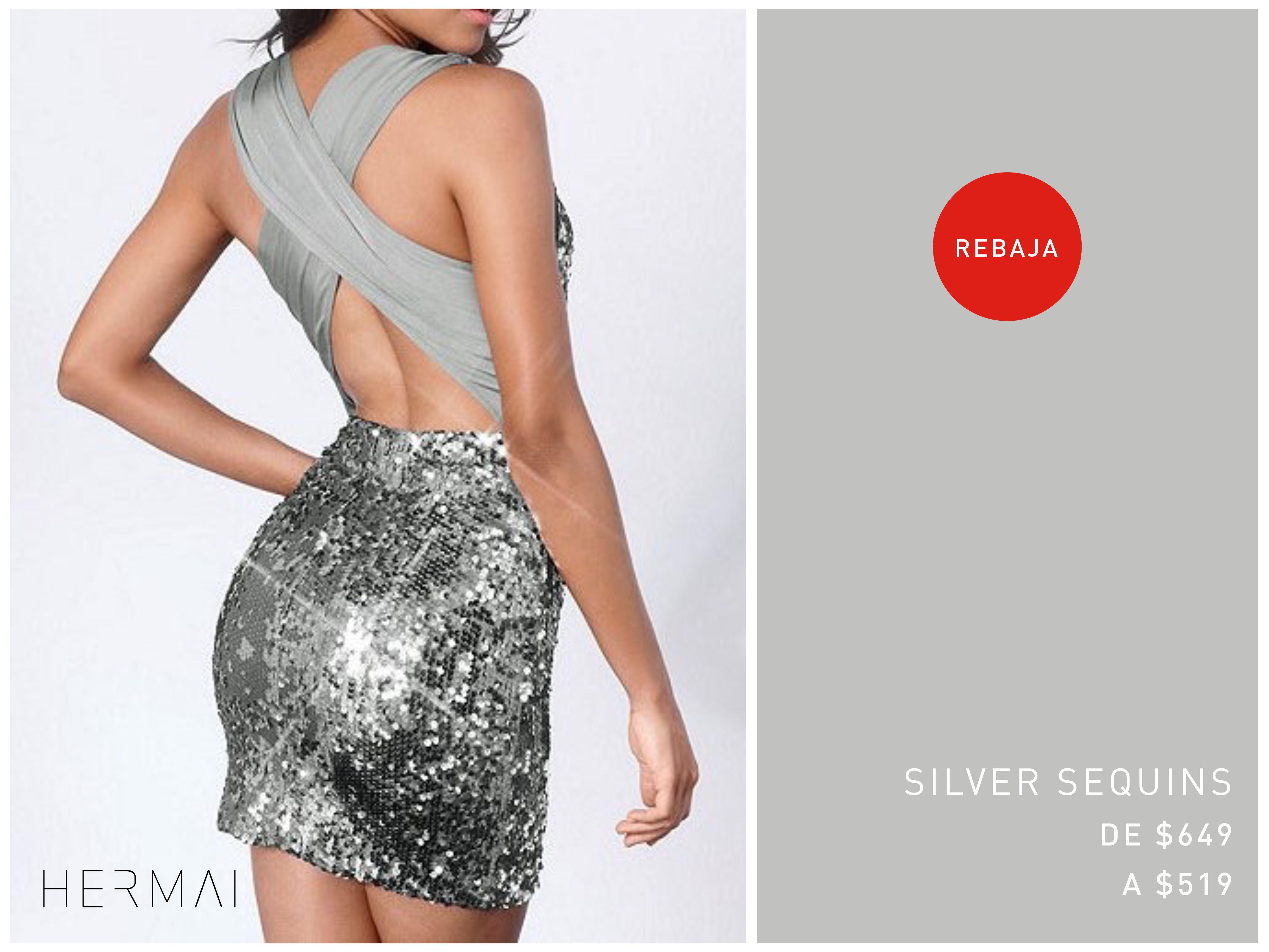 ¡Últimas piezas! Vestido Silver Sequins rebajado de $649 a solo $519 ¡Aprovecha!