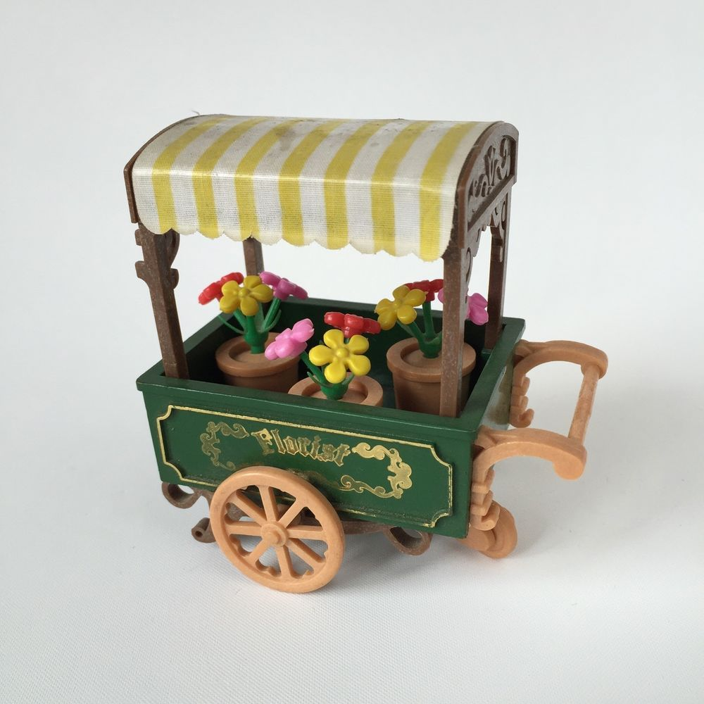 Sylvanian Families Bedroom Furniture Set Vintage Sylvanian Families Epoch Florist Cart Very Rare Set Ebay
