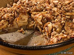 recipe: crustless apple pie with crumb topping [32]
